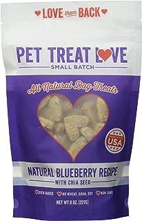 Pet Treat Love PTL-BL PB Blueberry Dog Treats (1 Pouch), Large/One Size
