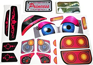 The Toy Restore Replacement Decals fits Little Tikes Cozy Coupe Truck with Eyes Princess NL