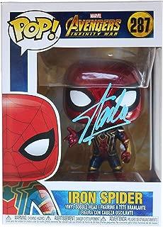 Stan Lee Signed Autographed Iron Spider FUNKO POP #287 Vinyl Figure COA