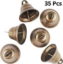 Belle Vous Campanas Bronce Vintage (35 Piezas) - 3.8x3.5cm Campana Metal Manualidades para Perro, Puerta y Entrenar Baño, Campanas de Viento, Decoración de Festival