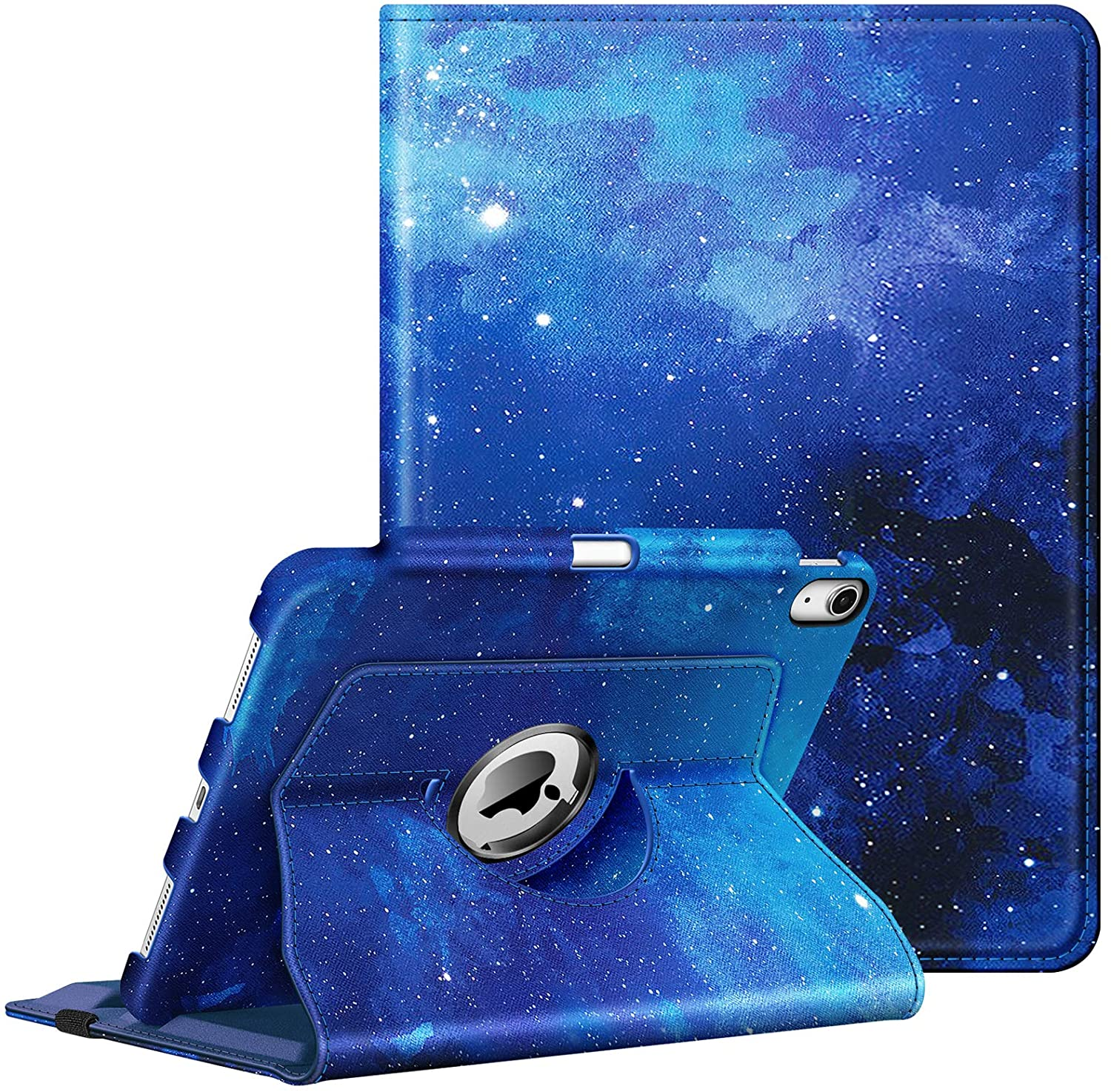 Fintie Case for iPad Air 4 10.9 Inch 2020 with Pencil Holder [Support 2nd Gen Pencil Charging] - 360 Degree Rotating Stand Cover with Auto Sleep/Wake for iPad Air 4th Generation, Starry Sky