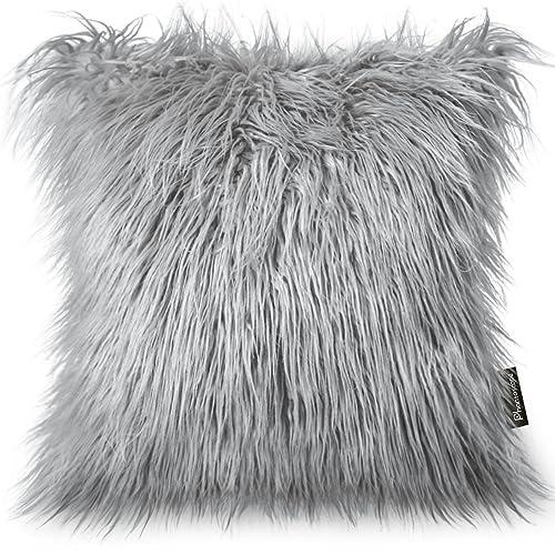 Grey Fluffy Cushions Amazon Co Uk
