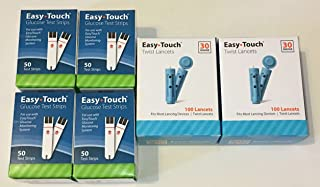EasyTouch 200 Blood Glucose Test Strips (4 Boxes) & 200 Twist Lancets 30g (2 Boxes)