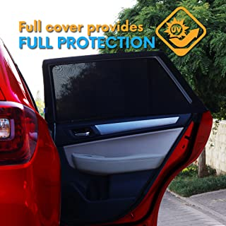 ATK Essential Products Car Window Shades for Baby -2019 Premium Version -Breathable Mesh -Protect Kids/Pets from Sun - Easy Fit – Universal Fits Most Models | 2 Pack + Baby On Board Sticker