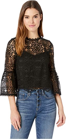 Amazing Lace Sheer Yoke Top