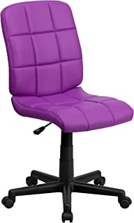 Flash Furniture Mid-Back Purple Quilted Vinyl Swivel Task Office Chair