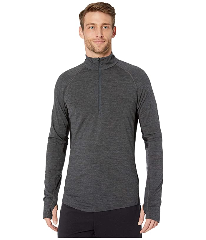 Icebreaker  BodyfitZONEtm 200 Zone Long Sleeve Half Zip (Jet Heather/Black 1) Mens Clothing