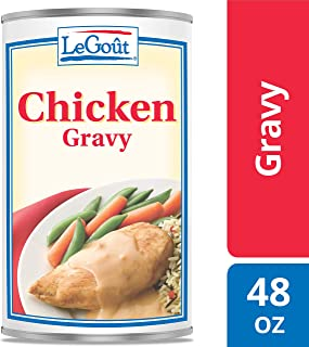 LeGout Chicken Gravy Easy Preparation: Heat and Serve, 48 oz, Pack of 12