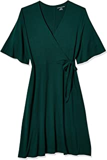 Amazon Essentials Women's  Kimono Sleeve Wrap Dress