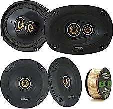 "2 Pair Car Speaker Package of 2X Kicker CSC654 300-Watt 6.5"" Inch 2-Way Black Coaxial Speakers + 2X CSC6934 450W 6x9 CS Se... photo"