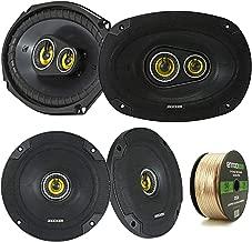 2 Pair Car Speaker Package Of 2x Kicker CSC654 600-Watt 6.5