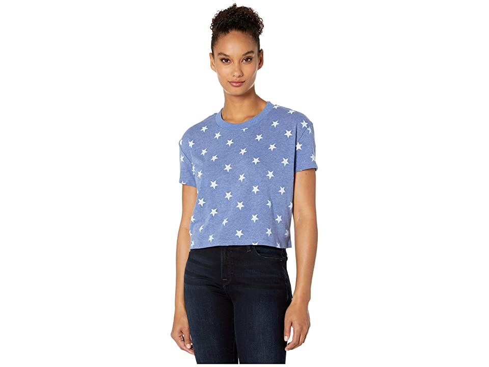 Alternative Eco Headliner Cropped Tee (Pacific Blue Stars) Women