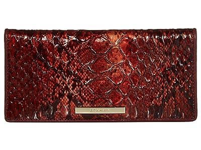 Brahmin Valerian Ady Wallet (Cranberry) Wallet Handbags