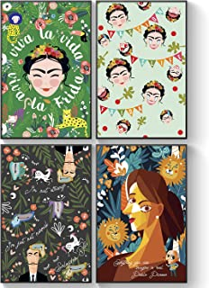 Frida Kahlo Wall Decor, Art Posters for Kids Classroom, Inspiring and Motivational Quotes, School Teacher Classroom Posters, Famous Artists Picasso/Dali Wall Art, Inspirational Wall Decorations Office