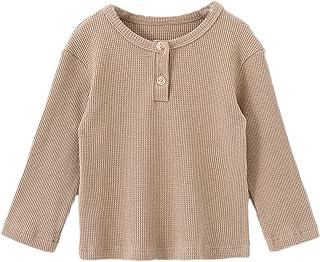Ashmyova Boys Cotton Linen Shirt Toddler Boys Pocket Button Short Sleeve T Shirt Tees Tops