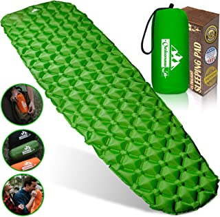 Outdoorsman Lab Camping Sleeping Pad | Ultralight Inflatable Camping Mat Pad for Backpacking & Hiking | Durable Insulated Sleeping Mat, Compact Carrying Bag and Repair Kit