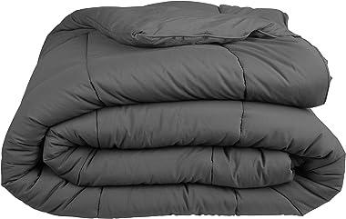 ILAVANDE Comforter, All Season Microfiber Queen Comforter-Down Alternative Quilted Bed Comforter-Soft and Comfortable Queen S
