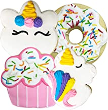 DecoCookies Hand Decorated Butter Cookies 16 Count - Perfect for Themed Birthdays or Parties - Great to Give as Gifts or Party Favors (Unicorns)
