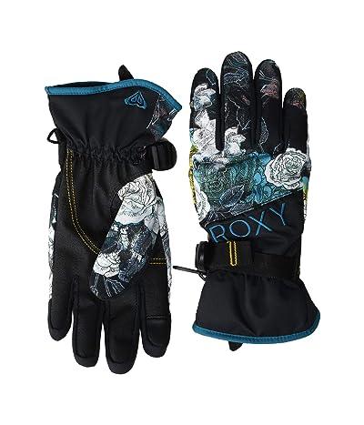 Roxy Jetty Snowboard/Ski Gloves (True Black Sammy) Extreme Cold Weather Gloves