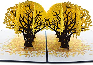 Ginkgo Tree Pop Up Card 3D Card For Birthday, Valentine's Day, Mothers Day, Spring, Fathers Day, Graduation,Thinking of Yo...