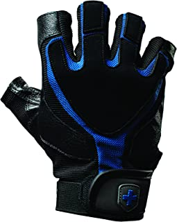 Harbinger Training Grip Non-Wristwrap Weightlifting Gloves with TechGel-Padded Leather Palm (Pair)