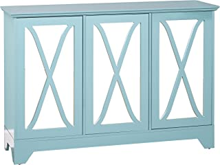 Target Marketing Systems Reflections Buffet/Console with Mirror, Blue