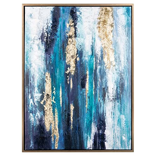 Canvas Gold And Blue Wall Art Amazon Com