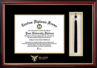 Campus Images NCAA Ball State University 10 x 8 Inches Tassel Box and Diploma Frame