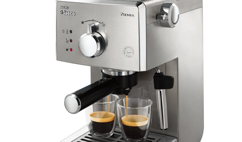 Saeco Poemia Inox HD8427/11 - Máquina de café espresso manual para café molido y monodosis E.S.E., 950 W, color plateado: Amazon.es: Hogar