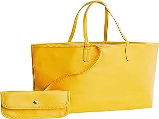 حقيبة تسوق بلون واحد مع محفظة مدمجة للنساء بمقاس واحد، 40102437