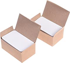 BCP 200pcs White Color Paper Message Business Gift Card Word Card 3.5 x 2 inches (White)