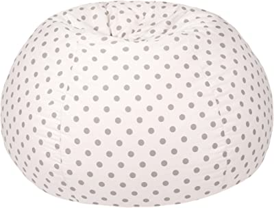 Gold Medal Bean Bags Bean Bag, X-Large, White and Grey