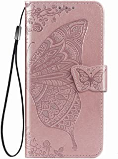 YukeTop Case for vivo V20 2021, PU Leather Flip Folio Wallet Cover, With Card Slots, Case Cover for vivo V20 2021.(Rose gold)