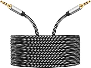 Morelecs AUX Cord 3.5mm Auxiliary Audio Cable AUX Cable 4ft Nylon Braided Male to Male 3.5mm Audio Cable Compatible for Headphones, iPods, iPhones, iPads, Home/Car Stereos and More