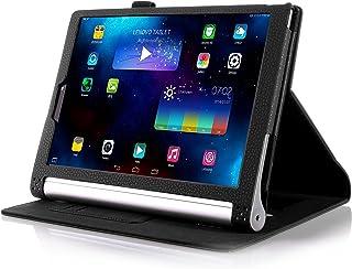 【全4色】JPIVSO オリジナルLenovo Yoga Tablet 2 8インチ (2014 Oct Release) (Lenovo Yoga Tablet 2 8インチ だけ 適用) 専用PUレザーケース 超薄型 最軽量 内包型 (ブラック)