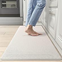 DEXI Kitchen Rug Cushioned Anti Fatigue Kitchen Mats, 2/5Inch Waterproof Non Skid Memory Foam Standing Mat, 17x47, Wheat