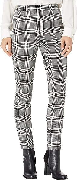 Double Faced Plaid Wool Cigarette Pants