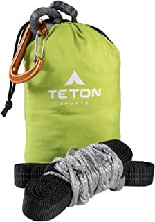 TETON Sports Rover Rope Tree Sling; Quick and Easy Setup; Hammock Straps Fit All Backpacking Hammocks; Heavy-Duty,  Looped Tree Sling Means No Messing with Knots While You're Camping