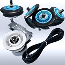 Rightex Dryer Repair Kit for Samsung Dryer - Perfect Fit Roller Wheels DC97-16782A, Dryer Drum Belt 6602-001655, Dryer Idler Pulley DC93-00634A - Replacement Parts