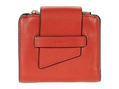 AllSaints Ray Small Wallet (Riot Red) Handbags