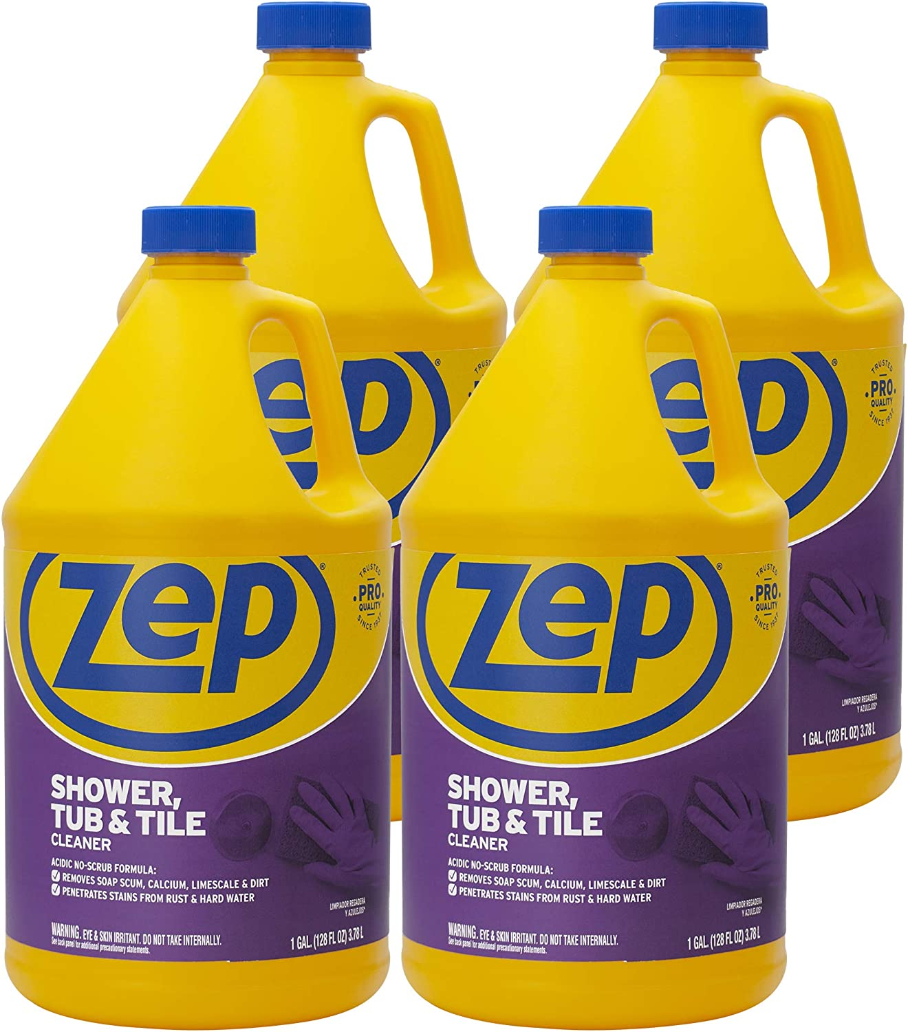 Overseas parallel import regular item Zep Shower Tub and Tile Cleaner Albuquerque Mall 1 4 Gallon ZUSTT128 - of Case