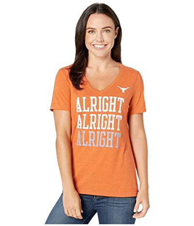 289c Apparel Texas Longhorns Shae Short Sleeve Tri-Blend Tee (Texas Orange) Women