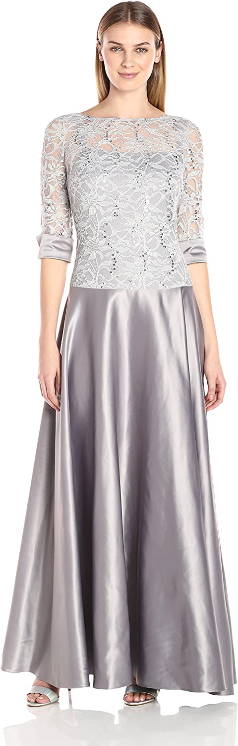 JS Collection Womens Combination Lace Dress with Top Drop Waist Into Skirt Dress