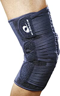 M-Brace AIR Vega Patella Stabilizer Knee Brace, Knee Strap, Knee Band, Support for Post Rehab and Prevention, 100% Cotton, Comfortable, for Men and Women, Blue, XX-Large