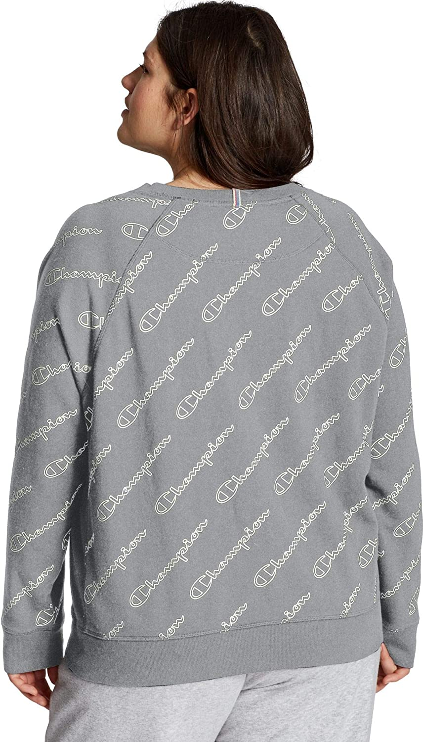 Champion Women's Plus-Size French Terry Crew Sweater