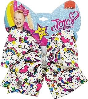 JoJo Siwa Large Light Up Cheer Hair Bow (Unicorns Hearts Rainbows)