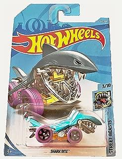 Hot Wheels 2018 50th Anniversary Street Beasts Shark Bite (Shark Car) 164/365, Aqua Blue