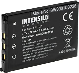 INTENSILO Li Ion Akku 700mAh (3.7V) für Kamera Camcorder Video Casio Exilim EX M1, EX M2, EX M20, EX S1, EX S100, EX S1PM, EX S2 wie NP 20.