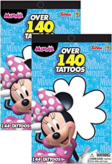 Disney Junior Minnie Mouse Bowtique Over 140 Temporary Tattoos Booklets - Easy to Apply and Remove, Smudge Proof, Cute Ass...