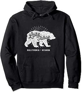 Lake Tahoe Vintage Retro Bear California Nevada Hoodie